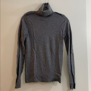 Club Monaco women's grey fitted turtleneck